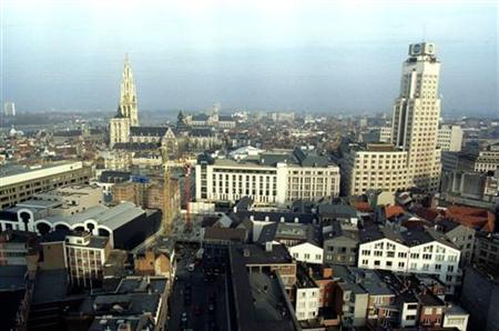 General elevated view of Antwerp, Belgium. REUTERS/Stringer/Files