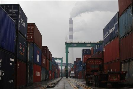 A general view of a container port in Shanghai February 10, 2011. REUTERS/Aly Song