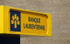 A Laurentian Bank sign is pictured at one of their branch in Quebec City June 9, 2010. REUTERS/Mathieu Belanger