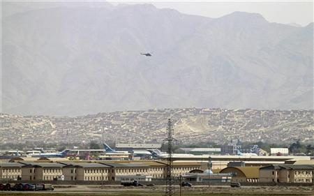 A general view of the Air Force compound in Kabul April 27, 2011. Several troops from the NATO-led International Security Assistance Force (ISAF) were killed in a shooting involving an Afghan Air Force pilot at the airport in the Afghan capital, ISAF said in a brief statement. REUTERS/Omar Sobhani