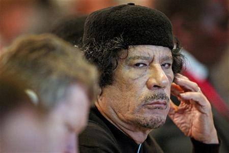 Libya's leader Muammar Gaddafi at a Food Security Summit in Rome November 16, 2009. REUTERS/Alessandro Di Meo/Pool