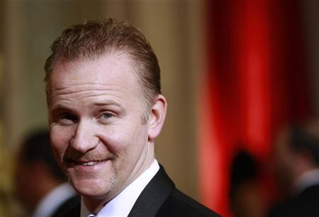Documentary director Morgan Spurlock arrives at the 84th Academy Awards in Hollywood, California, February 26, 2012. REUTERS/Lucas Jackson