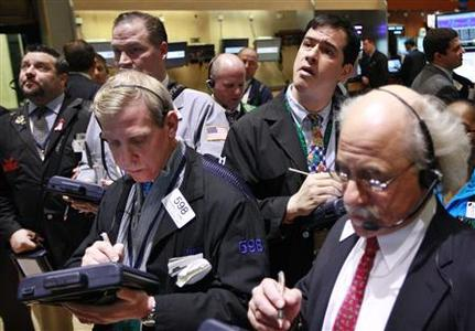 Traders work on the floor of the New York Stock Exchange March 9, 2012. REUTERS/Brendan McDermid