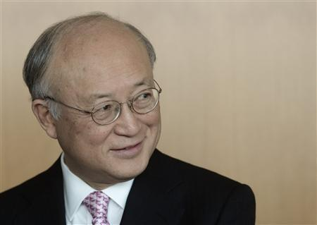 International Atomic Energy Agency (IAEA) Director General Yukiya Amano smiles during an interview with Reuters at the IAEA headquarters in Vienna, March 9, 2012. REUTERS/Heinz-Peter Bader
