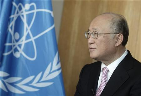 International Atomic Energy Agency (IAEA) Director General Yukiya Amano talks during an interview with Reuters at the IAEA headquarters in Vienna, March 9, 2012. REUTERS/Heinz-Peter Bader