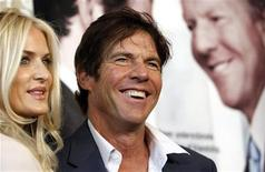 "Cast member Dennis Quaid and his wife Kimberly pose at the premiere of the movie ""The Special Relationship"" at the Director's Guild of America in Los Angeles May 19, 2010. REUTERS/Mario Anzuoni"