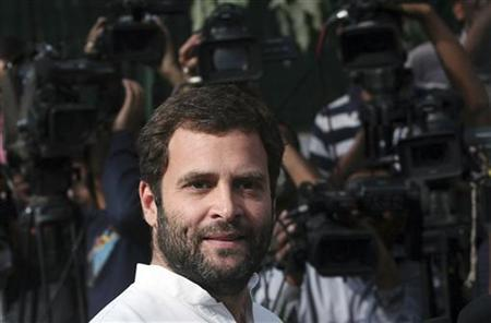 Rahul Gandhi speaks with the media in New Delhi March 6, 2012. REUTERS/Parivartan Sharma