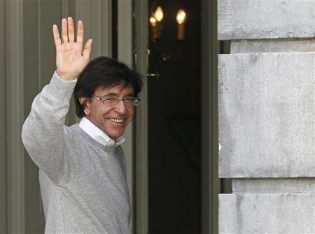 Belgium's Prime Minister Elio Di Rupo arrives at his residency for a budgetary control meeting in Brussels March 9, 2012. REUTERS/Yves Herman