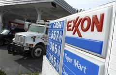 An Exxon gas station is pictured in Arlington, Virginia January 31, 2012. REUTERS/Jason Reed
