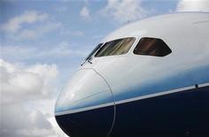 <p>Selon le représentant américain au Commerce, l'Organisation mondiale du commerce (OMC) a jugé que Boeing avait reçu des autorités américaines entre trois et quatre milliards de dollars de subventions publiques illicites par le biais d'aide à la recherche et de déductions fiscales. /Photo d'archives/REUTERS/Edgar Su</p>