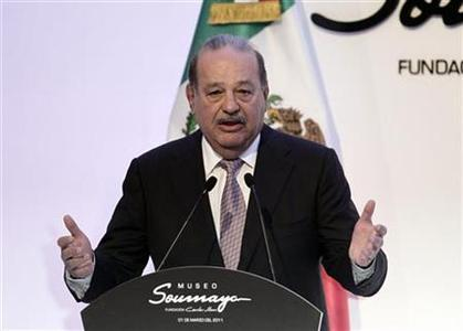 Mexican tycoon Carlos Slim speaks during the opening of the Soumaya museum in Mexico City March 1, 2011. REUTERS/Henry Romero