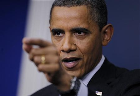 U.S. President Barack Obama takes a question during a news conference in the White House Briefing Room in Washington, March 6, 2012. REUTERS/Jason Reed
