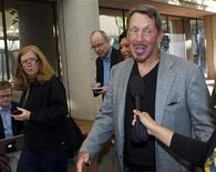 Oracle CEO and co-founder Larry Ellison arrives at the Robert F. Peckham Federal Courthouse in San Jose, California September 19, 2011. REUTERS/Norbert von der Groeben