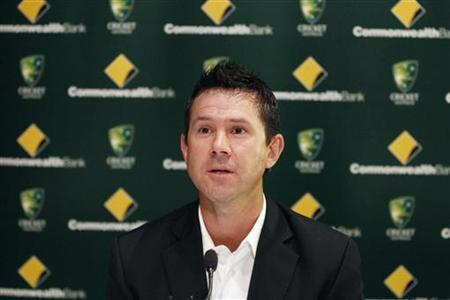 Australian cricket player Ricky Ponting speaks during a news conference in Sydney February 21, 2012. REUTERS/Daniel Munoz/Files