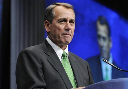U.S. House Speaker John Boehner (R-OH) addresses the American Conservative Union's annual Conservative Political Action Conference (CPAC) in Washington, February 9, 2012. REUTERS/Jonathan Ernst