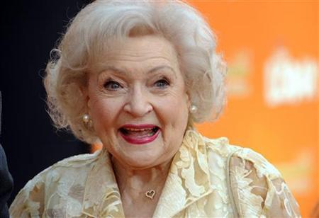 Cast member Betty White attends the premiere of the 3-D animated film ''Dr. Seuss' The Lorax'' in Los Angeles February 19, 2012. REUTERS/Phil McCarten