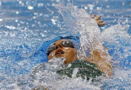 Australia's Stephanie Rice swims during the women's 400m Individual Medley final at the 2012 Australian Swimming Championships to qualify for the 2012 London Olympics, in Adelaide March 15, 2012. REUTERS/Regi Varghese