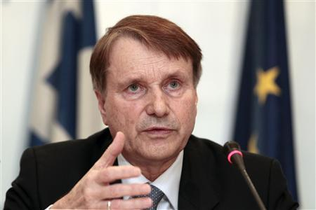 The head of the European Commission's task force on Greece Horst Reichenbach addresses reporters during a news conference in Athens March 15, 2012. REUTERS/Yiorgos Karahalis