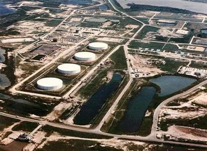 The Strategic Petroleum Reserve (SPR) Bryan Mound storage facility located in Brazoria County, Texas, is seen in an undated photo. REUTERS/Stringer
