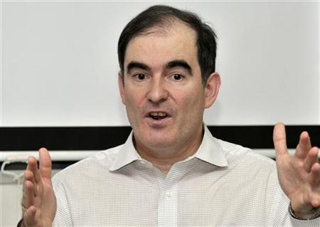 John Ging, head of operations at the U.N. Office for the Coordination of Humanitarian Affairs (OCHA), speaks during an interview in Khartoum March 13, 2012. REUTERS/Stringer