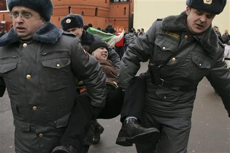 Russian opposition stages new protests, over 20 held