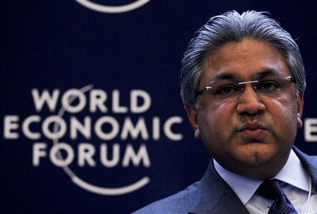 Arif M. Naqvi, Founder and Group Chief Executive, Abraaj Capital, of the United Arab Emirates, attends a session at the World Economic Forum (WEF) in Davos, January 26, 2012. REUTERS/Arnd Wiegmann