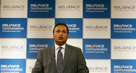 Anil Ambani, Chairman of Reliance Communications, speaks to shareholders during the company's annual general meeting in Mumbai September 22, 2009. REUTERS/Arko Datta