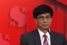 Sun Hung Kai Properties Ltd Executive Director Thomas Chan Kui-yuen attends a news conference in Hong Kong September 15, 2011. REUTERS/Tyrone Siu