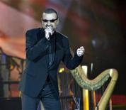 British singer George Michael performs during his European Orchestral tour on stage at Boxen Arena in Herning Denmark Monday evening, August 29, 2011. REUTERS/ Henning Bagger/Scanpix