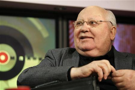 Former Soviet President Mikhail Gorbachev smiles during an interview in Moscow March 6, 2012. REUTERS/Anton Golubev