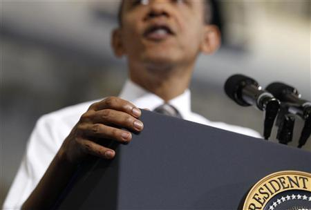 U.S. President Barack Obama talks to a crowd about American energy at Prince George's Community College in Largo, Maryland March 15, 2012. REUTERS/Larry Downing