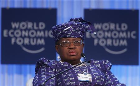 Nigeria's Finance Minister Ngozi Okonjo-Iweala attends a session at the World Economic Forum (WEF) in Davos, January 26, 2012. REUTERS/Christian Hartmann