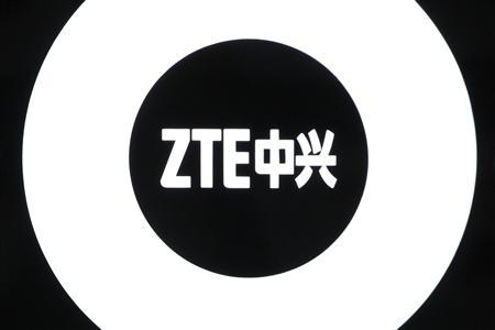 The logo of ZTE is seen inside a showroom in Shenzhen, China's southern Guangdong province April 16, 2010. Picture taken April 16, 2010. REUTERS/Tyrone Siu/Files