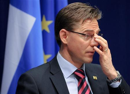 Finland's Prime Minister Jyrki Katainen speaks during a news conference at the end of a European Union leaders summit in Brussels March 2, 2012. REUTERS