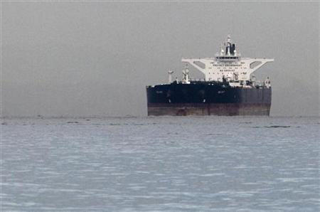 Malta-flagged Iranian crude oil supertanker ''Delvar'' is seen anchored off Singapore March 1, 2012.REUTERS/Tim Chong