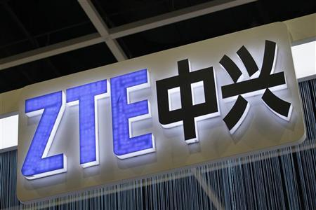 A ZTE logo is pictured at the Mobile Asia Congress in Hong Kong November 17, 2011. REUTERS/Tyrone Siu
