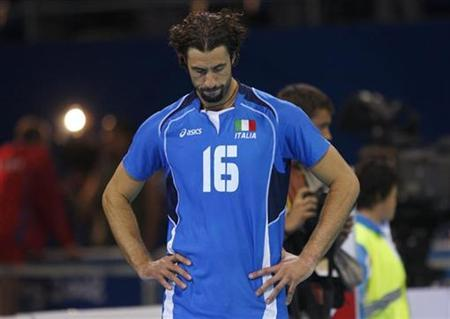 File photo of Italy's Vigor Bovolenta at a volleyball match at the Beijing 2008 Olympic Games, August 24, 2008. REUTERS/Alexander Demianchuk/Files