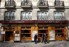 A general view shows the exterior of Spain's historic Cafe Gijon in Madrid March 16, 2012. REUTERS/Andrea Comas