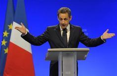 Il presidente francesce Nicolas Sarkozy.  REUTERS/Philippe Wojazer