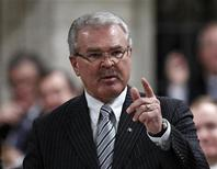 Canada's Agriculture Minister Gerry Ritz speaks during Question Period in the House of Commons on Parliament Hill in Ottawa December 8, 2011. REUTERS/Chris Wattie
