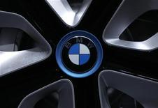 A wheel rim of a BMW i3 Concept car is pictured before the company's annual news conference in Munich March 13, 2012. REUTERS/Michaela Rehle