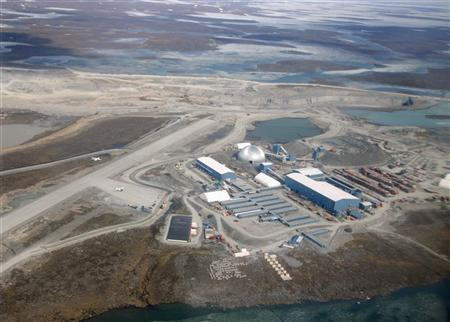 An aerial view of Agnico-Eagle's Meadowbank mine and processing facilities in Nunavut, June 28, 2011. REUTERS/Euan Rocha