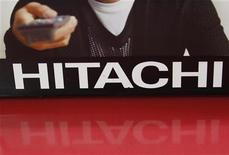 A Hitachi logo is seen at an electronics shop in Tokyo August 4, 2011. REUTERS/Kim Kyung-Hoon