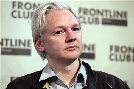 WikiLeaks founder Julian Assange speaks at a news conference in London, February 27, 2012. REUTERS/Finbarr O'Reilly