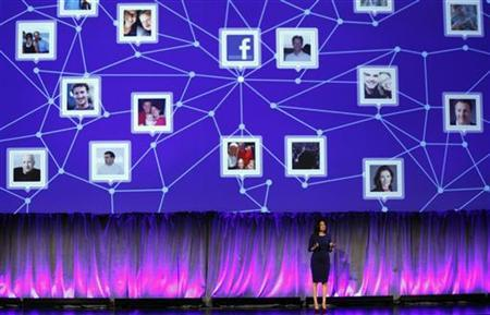 Facebook Chief Operating Officer Sheryl Sandberg delivers a keynote address at Facebook's ''fMC'' global event for marketers in New York City, February 29, 2012. REUTERS/Mike Segar