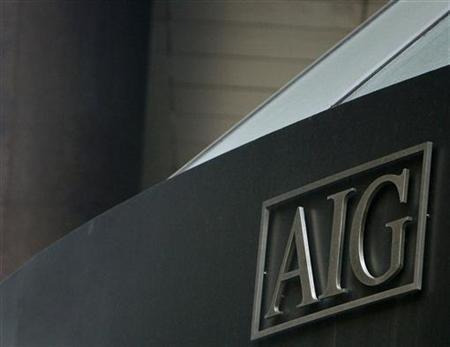 The American International Group (AIG) building is seen in New York's financial district March 16, 2009. REUTERS/Brendan McDermid