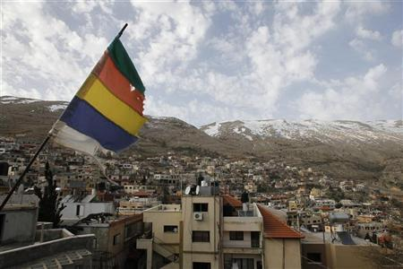 A general view shows the Druze village of Majdal Shams on the Golan Heights March 12, 2012. REUTERS/Baz Ratner