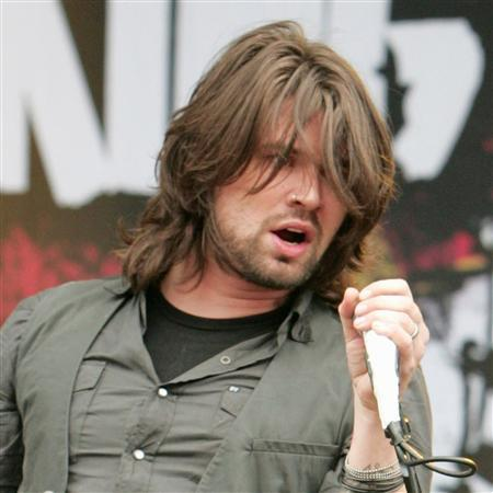 Adam Lazzara performs at Sonisphere Festival 2009 in Stevenage, England in this August 1, 2009 file photo. REUTERS/WENN.com