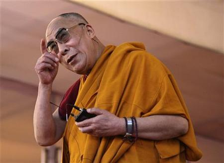 Tibetan spiritual leader the Dalai Lama speaks during a teaching session on the third day of the Kalachakra festival in Bodhgaya January 3, 2012. REUTERS/Jitendra Prakash/Files