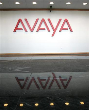 The sign in the lobby of Avaya Inc. offices and lab in Westminster, Colorado is seen January 23, 2007. REUTERS/Rick Wilking
